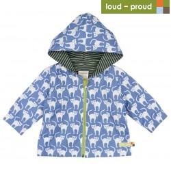 loud + proud - Bio Baby Jacke mit Katzen-Druck, wasserabweisend