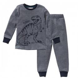 People Wear Organic - Bio Kinder Schlafanzug mit Dino-Druck