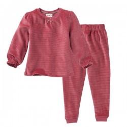 People Wear Organic - Bio Kinder Nicki Schlafanzug mit Streifen, rose