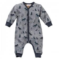 People Wear Organic - Bio Baby Strampler mit Wolf-Allover