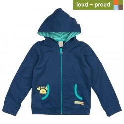 loud + proud - Bio Kinder Sweatjacke mit Krabben-Motiv