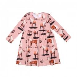Walkiddy - Bio Kinder Kleid mit Pferde-Allover