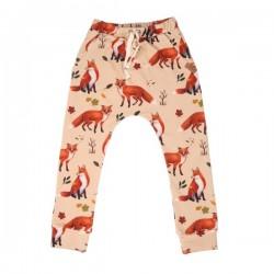 Walkiddy - Bio Kinder Jersey Hose mit Fuchs-Allover