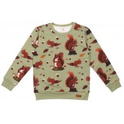 Walkiddy - Bio Kinder Sweatshirt mit Eichhörnchen-Allover