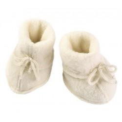 ENGEL - Bio Baby Fleece Schuhe, Wolle, natur