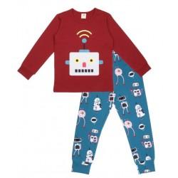 Walkiddy - Bio Kinder Schlafanzug mit Roboter-Motiv
