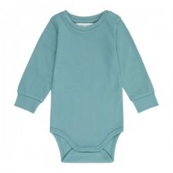 """Sense Organics - Bio Baby Body langarm """"Milan"""", teal"""
