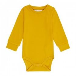 """Sense Organics - Bio Baby Body langarm """"Milan"""", senf"""