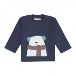 """Sense Organics - Bio Baby Langarmshirt """"Elan"""" mit Eisbären-Applikation"""