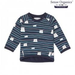 """Sense Organics - Bio Baby Sweatshirt """"Etu"""" mit Eisbären und Streifen"""