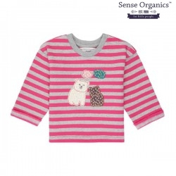 """Sense Organics - Bio Baby Sweatshirt """"Nolani"""" mit Eisbären-Applikation und Streifen"""
