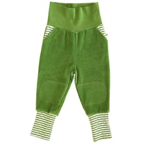 Leela Cotton - Bio Baby Nickyhose, waldgrün