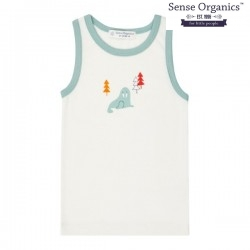 "Sense Organics - Bio Kinder Unterhemd ""Don Retro"" mit Walross-Druck"