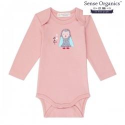 "Sense Organics - Bio Baby Body ""Yvon Retro"" mit Eulen-Applikation"