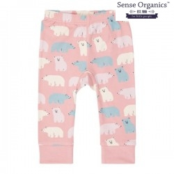 """Sense Organics - Bio Baby Leggings """"Bright Retro"""" mit Eisbären-Allover, rosa"""
