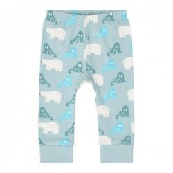"""Sense Organics - Bio Baby Leggings """"Bright Retro"""" mit Eisbären-Allover, blau"""
