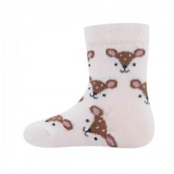 Ewers - Bio Baby Socken mit Reh-Allover