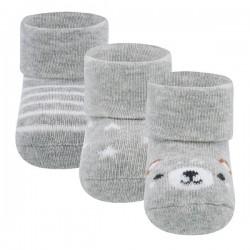 Ewers - Bio Baby Socken 3er-Pack mit Streifen, Bär und Sternen