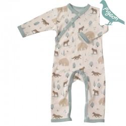 Pigeon - Bio Baby Strampler mit Wolf-Motiv