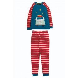 """frugi - Bio Kinder Schlafanzug """"Navigator"""" mit Bus-Druck"""