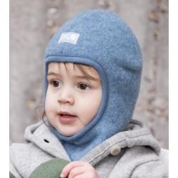 """PICKAPOOH - Bio Kinder Fleece Mütze """"Sturmhaube"""", Wolle, jeans"""