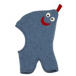 "PICKAPOOH - Bio Kinder Fleece Mütze ""Max"" mit Zipfel, Wolle, jeans"