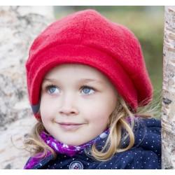 "PICKAPOOH - Bio Kinder Fleece Basken Mütze ""Britt"", Wolle, rot"