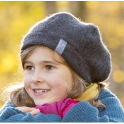 """PICKAPOOH - Bio Kinder Fleece Basken Mütze """"Britt"""", Wolle, anthrazit"""