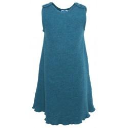 Reiff - Bio Kinder Kreppwalk Kleid, Wolle, smaragd