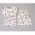 Pigeon - Bio Kinder Schlafanzug mit Eislaufende Tiere-Allover