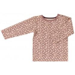 Pigeon - Bio Kinder Langarmshirt mit Blätter-Allover, rosa