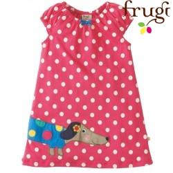 """frugi - Bio Baby Kleid """"Little Lola"""" mit Hunde-Motiv und Punkten"""