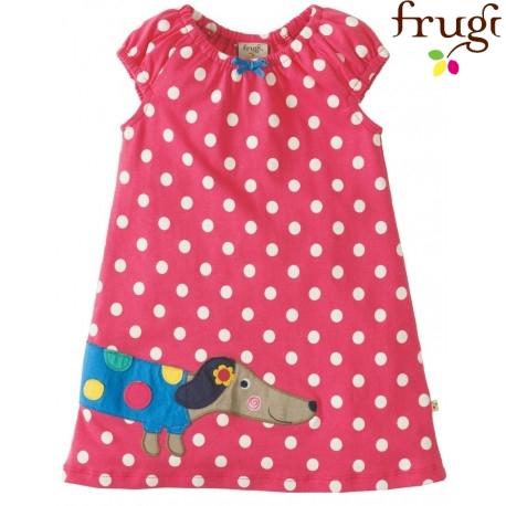 frugi - Kleid mit Hund und Punkten
