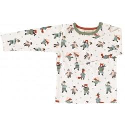 Pigeon - Bio Kinder Langarmshirt mit Eislaufende Tiere-Allover