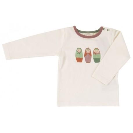 Pigeon - Bio Kinder Langarmshirt mit russischen Puppen-Druck
