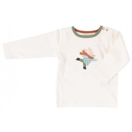 Pigeon - Bio Kinder Langarmshirt mit Eislaufendem Hasen-Druck