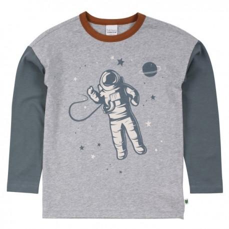 Fred`s World by Green Cotton - Bio Kinder Langarmshirt mit Astronauten-Druck