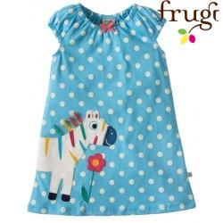"""frugi - Bio Baby Kleid """"Little Lola"""" mit Zebra-Motiv und Punkten"""