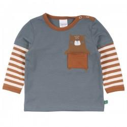 Fred`s World by Green Cotton - Bio Baby Langarmshirt mit Bären-Druck