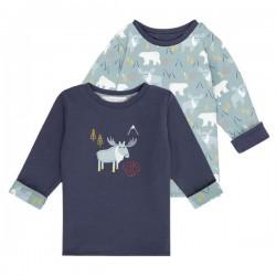 """Sense Organics - Bio Baby Wende Langarmshirt """"Felix"""" mit Rentier-Applikation und Eisbären-Allover"""