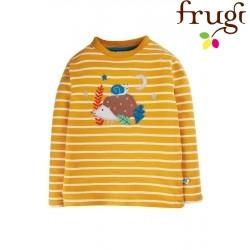 """frugi - Bio Kinder Langarmshirt """"Discovery"""" mit Igel-Applikation und Streifen"""