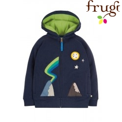 "frugi - Bio Kinder Sweatjacke ""Luka"" mit Berge-Applikation"