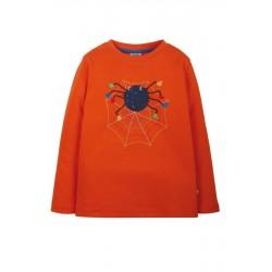 "frugi - Bio Kinder Langarmshirt ""Adventure"" mit Spinnen-Applikation"