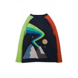 """frugi - Bio Kinder Langarmshirt """"Alfie"""" mit Berge-Applikation"""