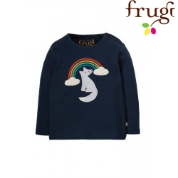 """frugi - Bio Kinder Langarmshirt """"Button"""" mit Fuchs-Applikation"""